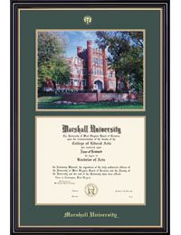 Product: Marshall University Prestige Bachelor Diploma Frame w/Photo