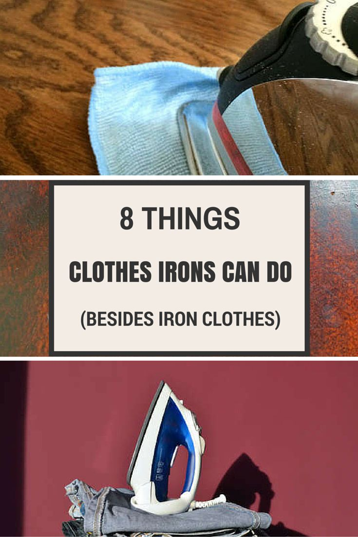 A clothes iron can be used to remove dents in wood floors, white water marks from coffee tables, and more! Definitely need to know these clever cleaning hacks.