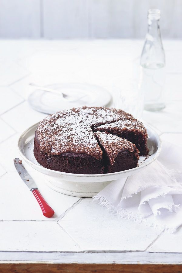'Karleksmums' Love Cake -This cake has many, many names across Scandinavia. We call it Love Cake (from the Swedish 'kärlek' meaning 'love' and 'mums' meaning 'something delicious'). We changed the traditional chocolate sponge at the café to a darker chocolate cake as we feel it goes better with the mocha icing.