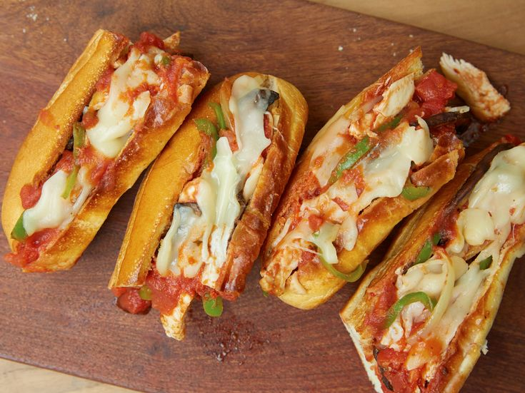 Chicken Cacciatore Subs recipe  These were good, and Charlie really liked them!  Served with baked potatoes for a quick and easy dinner.  Will make again.