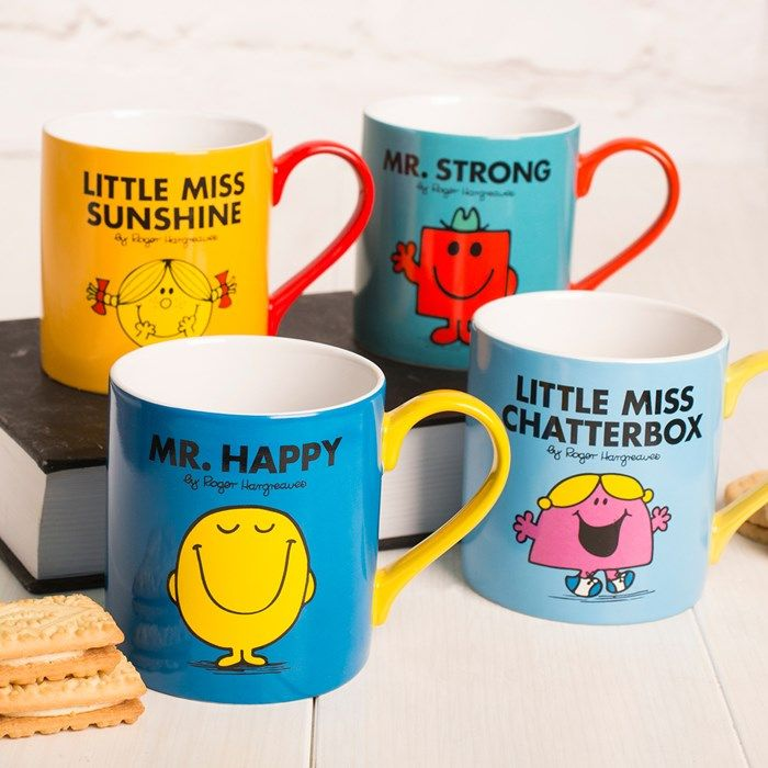 Our Mr Men and Little Miss mugs are a great gift, whatever the occasion. Choose from Little Miss Sunshine, Little Miss Chatterbox, Mr Happy or Mr Strong. Shop now!