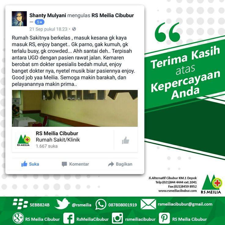Terima kasih #pelanggan #layanan #sehat #dokter #rumahsakit #rsmeilia #cibubur #depok #cileungsi #bekasi #bogor #jakarta #tangerang #indonesia
