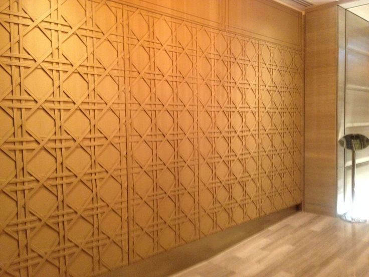 Amazing leather wall at Crown.