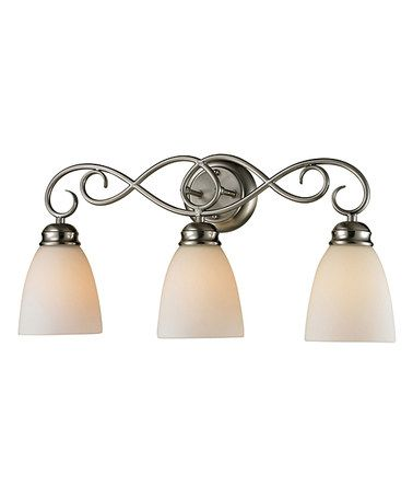 Another great find on #zulily! Brushed Nickel Chatham Three-Light Fixture #zulilyfinds