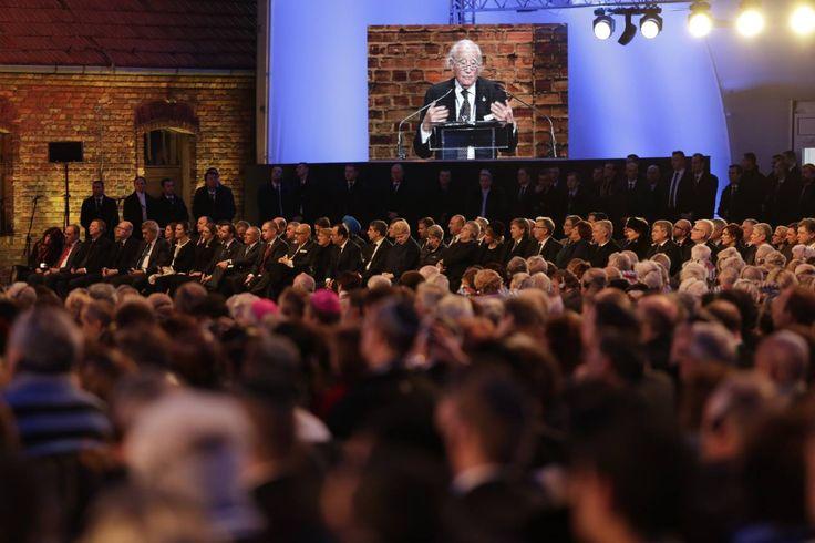 70th anniverary of the liberation of Auschwitz. Auschwitz Survivor Roman Kent.