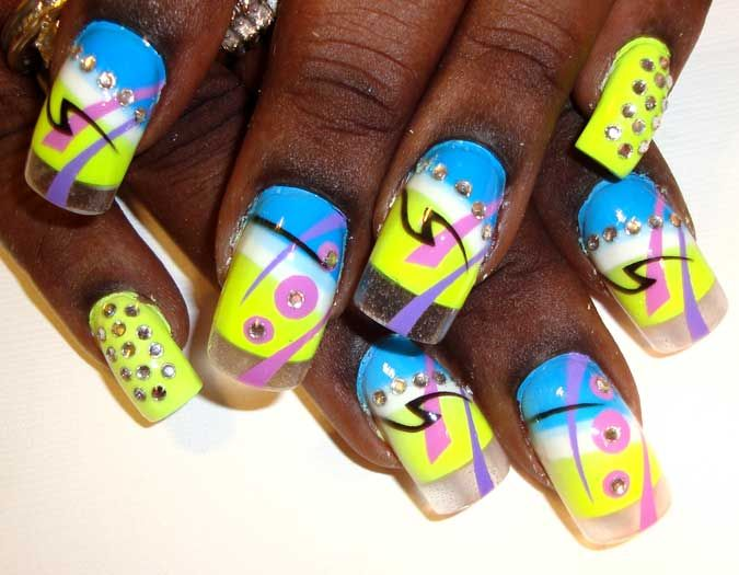 airbrushed nails | Photo Gallery of the Fabulous Airbrush Nail Designs
