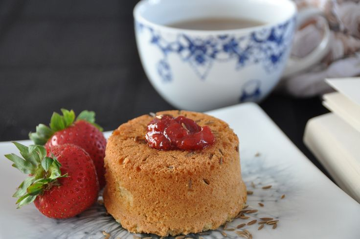 Jane Eyre's Delightful Caraway and Strawberry Cake