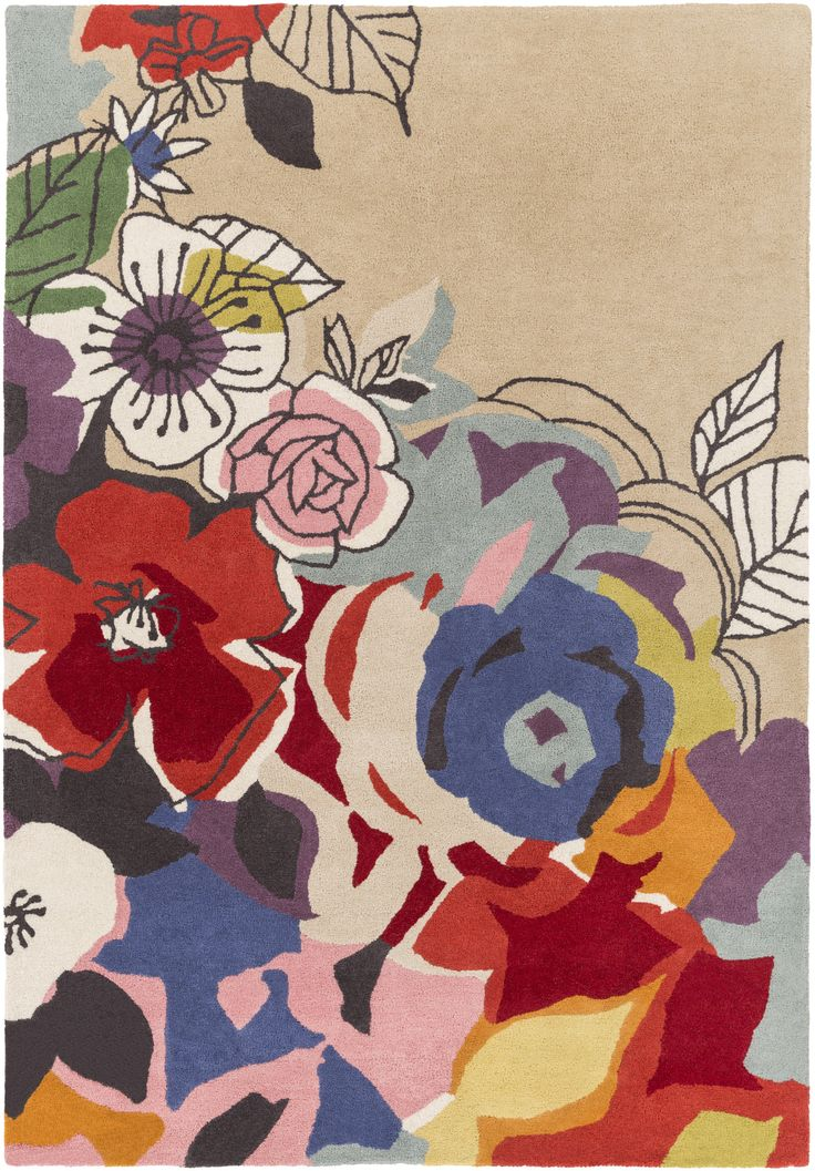 Surya Scion Floral and Paisley Area Rug Multi-Color
