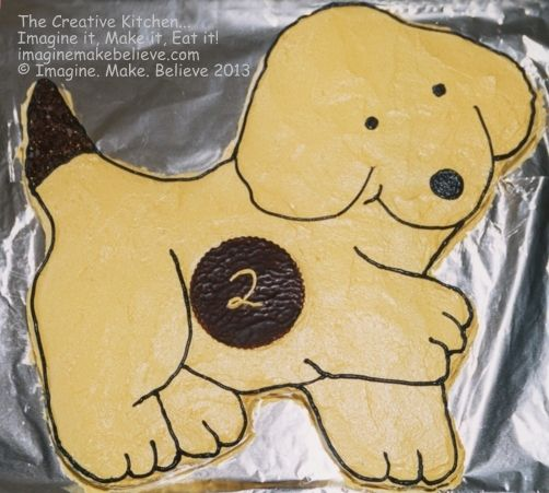 Spot  the dog (by Eric Hill) character cake.
