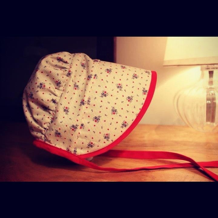 Baby bonnet using craftiness isn't optional pattern