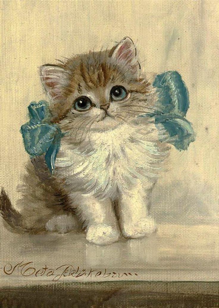 Кот для открытки, учителя