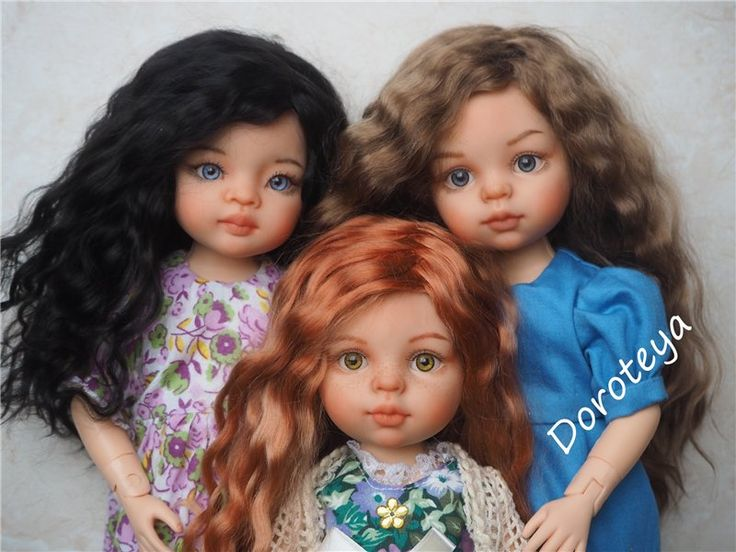 Три сестренки. ООАК кукол Поала Рейна, Paola Reina / Paola Reina, Antonio Juan и другие испанские куклы / Бэйбики. Куклы фото. Одежда для кукол