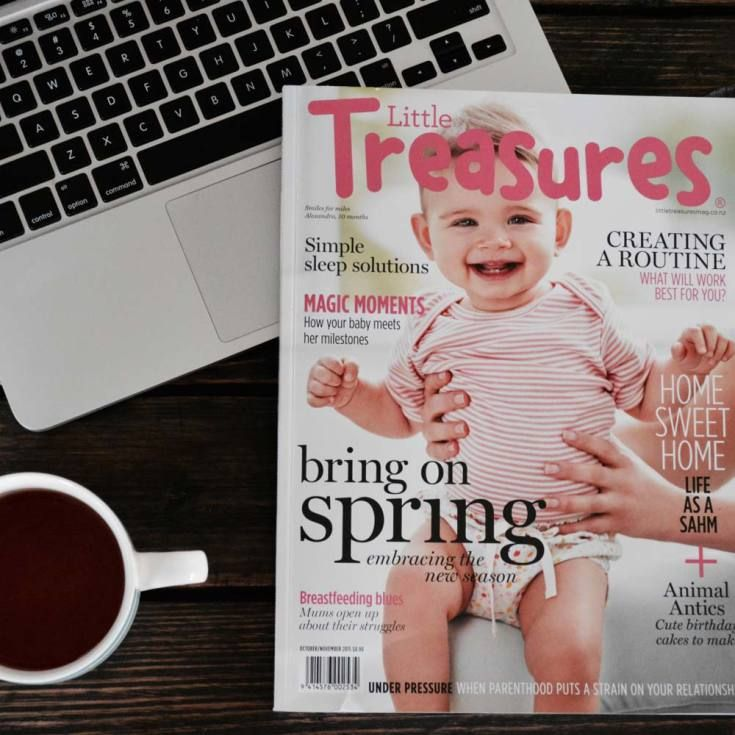 The latest edition of Little Treasures magazine with a hot cup of green tea. Bliss!