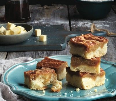 Maple syrup butter tart squares