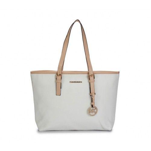 Michael Kors Bag Medium Travel Tote White