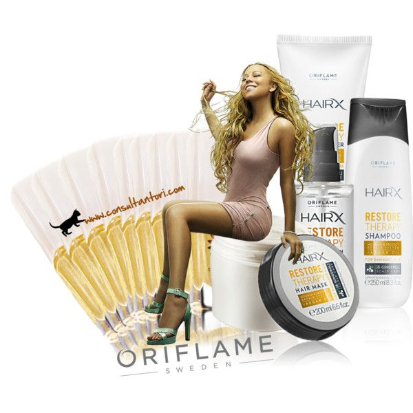 """Oriflame HairX Restore Therapy"" by consultantori on Polyvore"
