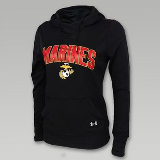Under Armour Marines Womens Logo Hood