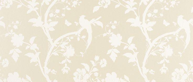 Oriental Garden Linen Floral Wallpaper at Laura Ashley