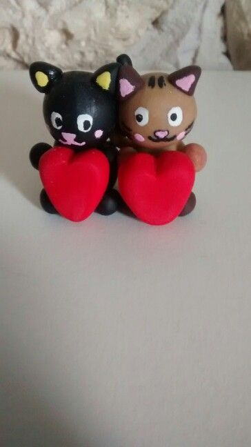 Fimo-chats amoureux