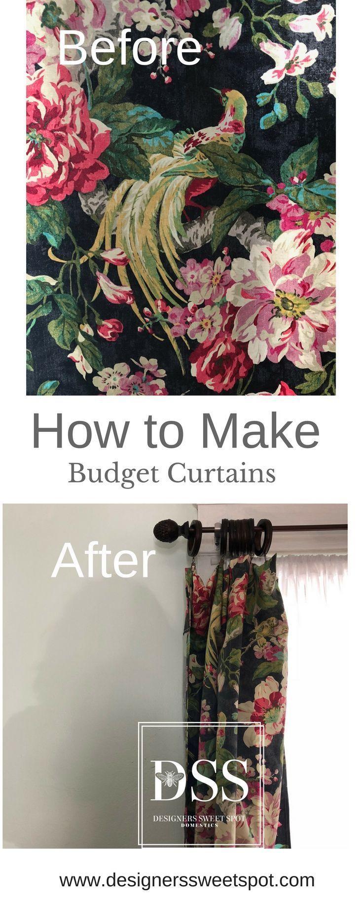 How to Make Budget Curtains|Designers Sweet Spot|www.designerssweetspot.com