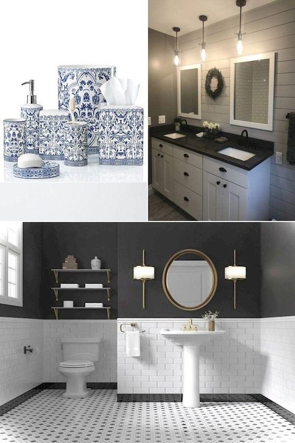 Bath Accessory Sets Shop Bathroom Decor Blue Grey Bathroom