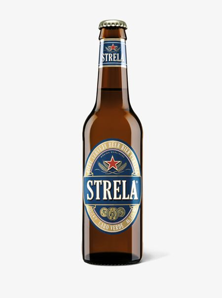 Strela Cabo Verde, Refreshing beer to drink cold in the hot sunshine!