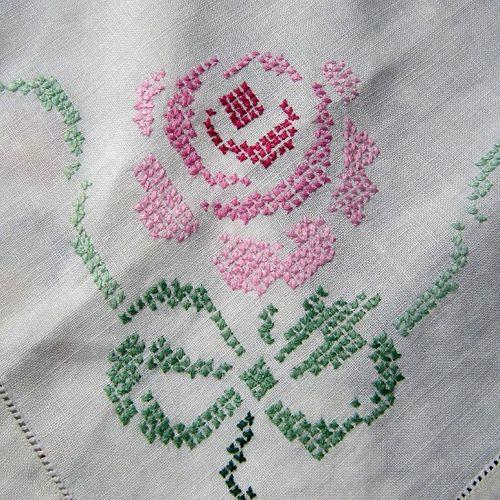 Vintage Cross Stitch Rose