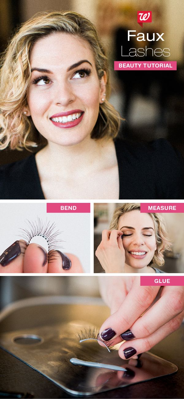 Apply faux lashes quickly with pro makeup artist tips. 1) Remove strip lashes & bend around your fingertip to fit the curve of your eyelid. 2) Measure the length of the faux lashes to your own & trim the outer corner to match your natural length. 3) Dip lashes into a strip eyelash glue & allow 30 seconds for it to become tacky. Apply strips as closely to lash line as possible, pressing them securely before opening eyes. Visit our blog for even more great tips for all your spring beauty…