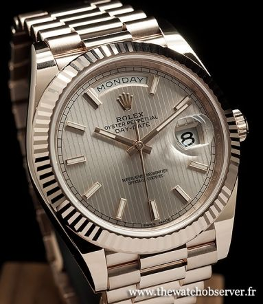 Prix et photo Rolex Oyster Perpetual Day-Date 40 or Everose 18ct