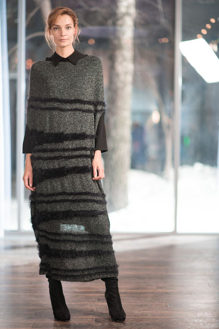 Купить Туника длинная Грива-меланж от Lesel (Лесель) российский дизайнер одежды