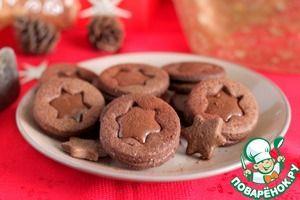♔ Cookies: Шоколадно-карамельное печенье