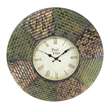 """24""""H Country Style Wall Clock in Metal 8238010 – USD $ 69.99"""