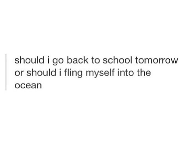 basically my thoughts every weekday life decisions here