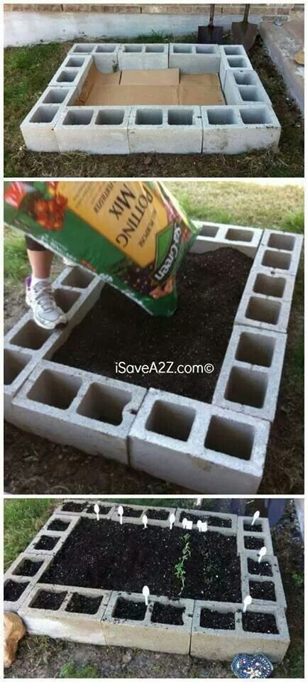 GREAT way to make a garden without needing to dig a trench and add a liner! (Or plant where the weeds already thrive!) Their recommendation is to use organic compost and potting soil.
