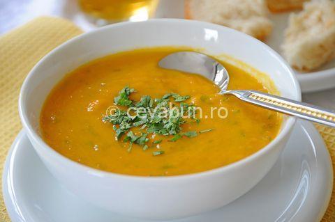 Cum se face supa turceasca de linte. Supa crema de linte, dulce acrisoara. Retete de supe si mancaruri turcesti. Crema de linte cu lamaie si menta.
