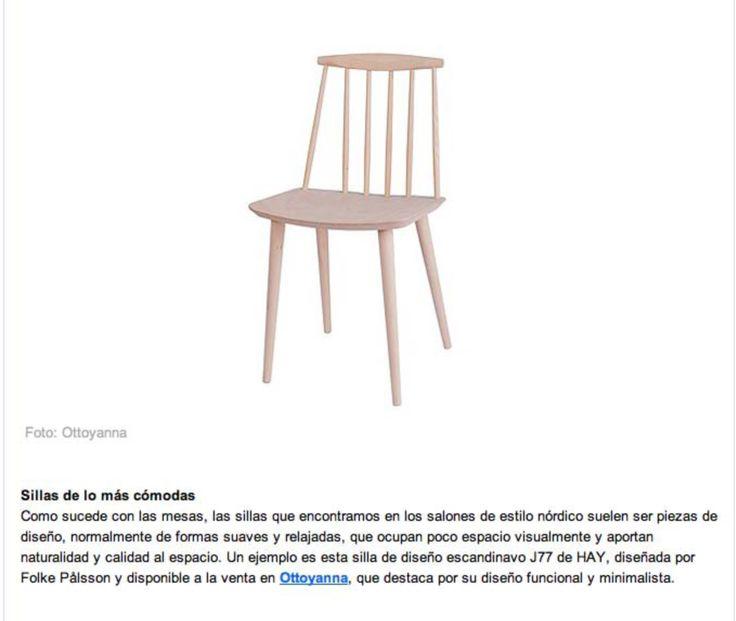 Silla de diseño escandinavo J77 de HAY, diseñada por Folke Pålsson y disponible a la venta en Ottoyanna, que destaca por su diseño funcional y minimalista. #silla #J77 #HAY #estiloescandinavo