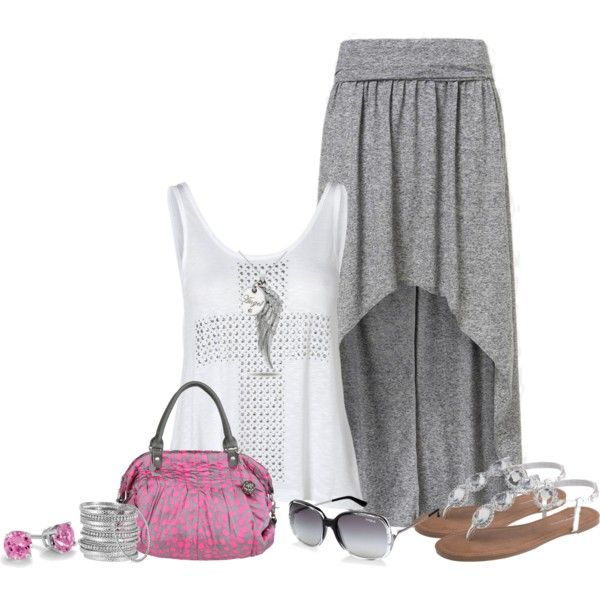 """""""The hi-low skirt"""" by sweetlikecandycane on Polyvore"""