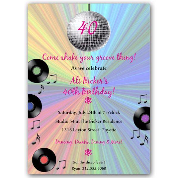 groovy disco ball birthday invitations 70s birthday parties are my