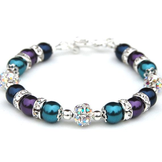 Hey, I found this really awesome Etsy listing at https://www.etsy.com/listing/122043297/bridesmaid-jewelry-navy-purple-and-teal