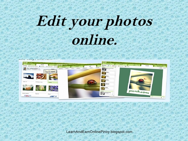 how-to-do-online-photo-editing-4507567 by jessecadelina via Slideshare