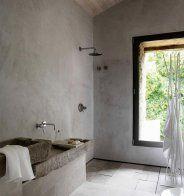 Une douche à l'italienne à l'esprit naturel - Marie Claire Maison