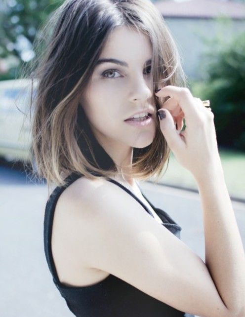 A gorgeous short hairstyle with ombré. Treat your tresses with hydrating hair products from Walgreens.com.