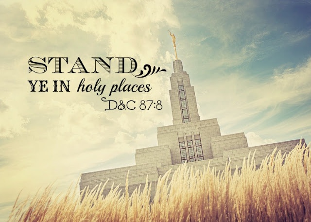 Stand Ye in Holy Places Mormon/LDS temple printouts.   Beautiful picture. The wild grass make it seem so relaxed and pure.