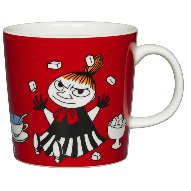 The new Little My Moomin mug of 2015! Coming 1st of March. Please leave your email to be notified when it's available.The brave and fearless Little My features these new red coloured products by Arabia. The design is from the Conscientious Moomin in comic album