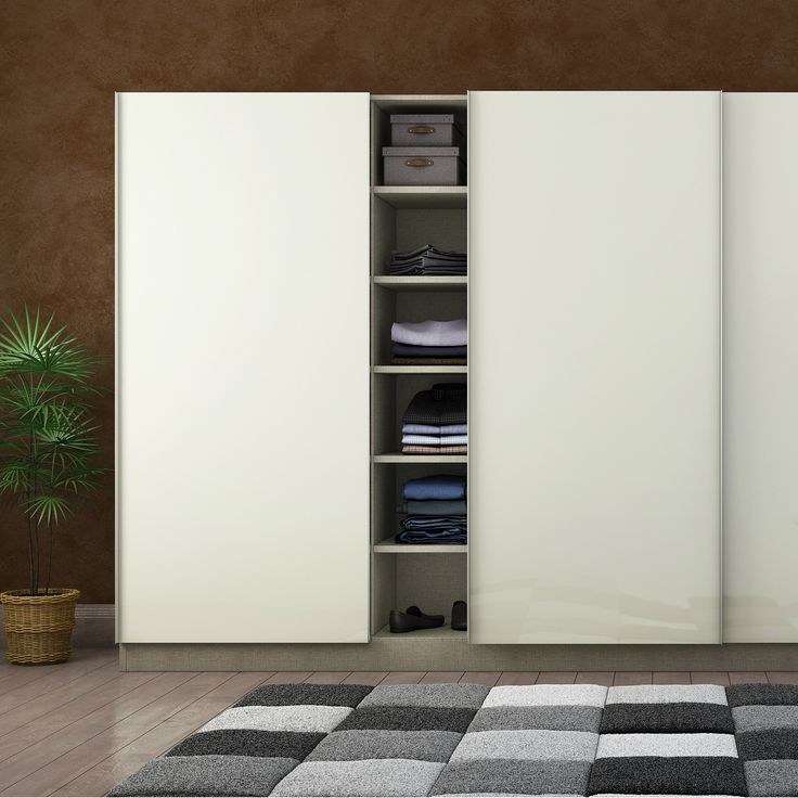 Best Pure white modular wardrobe to liven up your bedroom