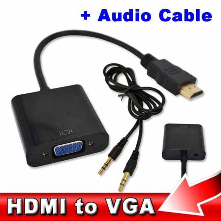 2017 Hot Male to Female HDMI to VGA Adapter Converter HDMI Cable for Xbox 360 for PS3 DVD PC Laptop Tablet Full HD 1080P HDTV #Affiliate