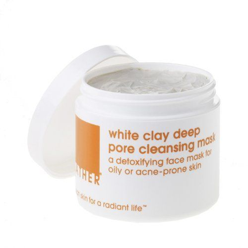 LATHER White Clay Deep Pore Cleansing Mask, 4-Ounce Jar by