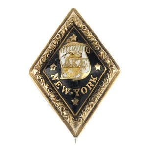 LOT:24 | A mid 19th century enamel Yale college fraternity pin.