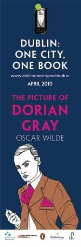 Dublin Lamppost Banners featuring Oscar Wilde's 'The Portrait of Dorian Gray' -- Book of the Year, Dublin 2010  #civicmedia2010