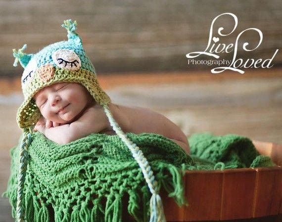 "sleepy owl hat crochet pattern ""beezy moms creations"" etsy shop: Babies, Owl Baby, Owl Babies, Baby Owls, Hands Crochet, Crochet Baby, Baby Hats, Crochet Owl, Owl Hats"